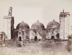 General view of main façade of Alif Khan's Mosque, Dholka, Gujarat